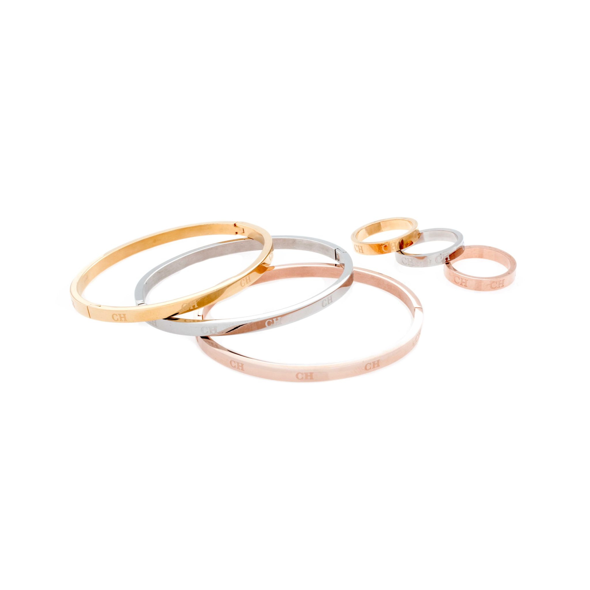 set zoysa three rings gold jewellery stacking bonas of oliver