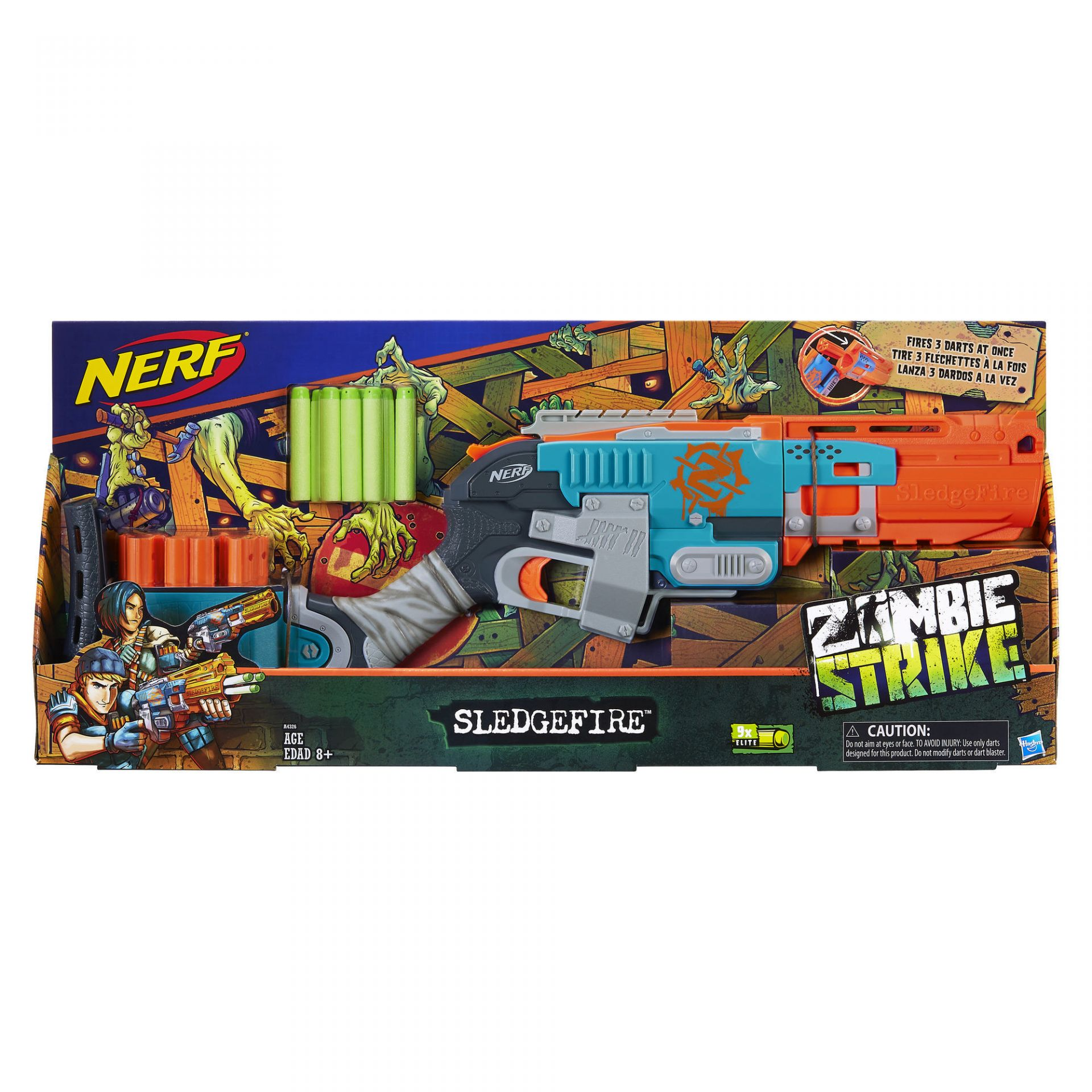 Nerf Zombie Strike Sledgefire Blaster on Furniture Made From Car Parts